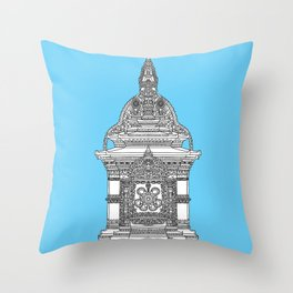 The Temple of Sarpachandra Throw Pillow