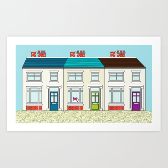 The Victorian Terrace Art Print