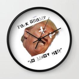 Fun Donald trump Wall Clock