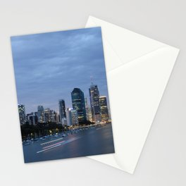 Early Evening River Traffic Stationery Cards