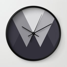 Sawtooth Inverted Blue Grey Wall Clock