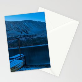 Wallpaper USA Rock Creek Lake Nature Winter Mounta Stationery Cards