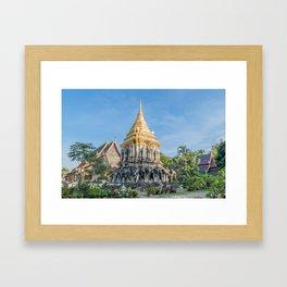 Wat Chiang Man II_Thailand Framed Art Print