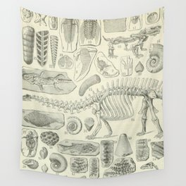 Fossil Chart Wall Tapestry