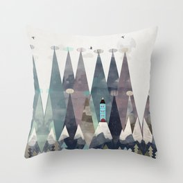 the love nest Throw Pillow