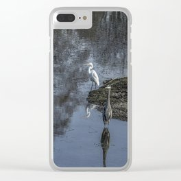 Reflections of My Feathered Friends Clear iPhone Case
