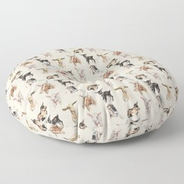 Vintage Goat All-Over Fabric Print Floor Pillow