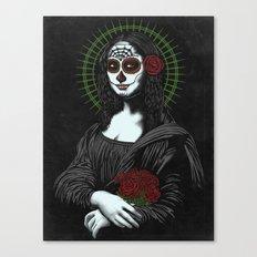 Viva La Mona Muerte Lisa Canvas Print