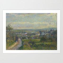 Camille Pissarro - View of Saint-Ouen-l'Aumône Art Print