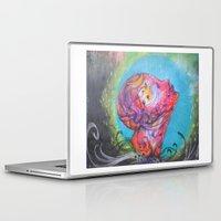 grafitti Laptop & iPad Skins featuring Grafitti Face by Whitney Woodrick