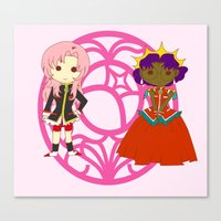utena Canvas Prints featuring Be my rose bride by Missaurelie