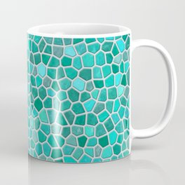 Faux Stone Mosaic in Lighter Turquoise Coffee Mug
