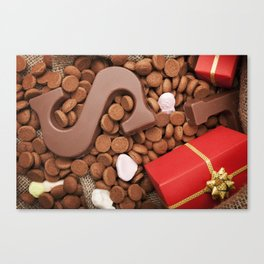 I - Bag with treats, for traditional Dutch holiday 'Sinterklaas' Canvas Print