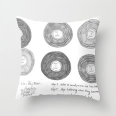 Hipsters Listen To Music Throw Pillow