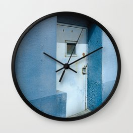 Blue Street Abstracts 7 Wall Clock