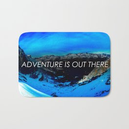 Adventure Is Out There Bath Mat