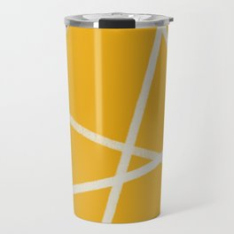 Happy Abstract Lines Travel Mug