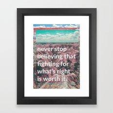 preach Framed Art Print