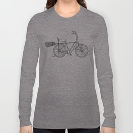 vintage witch bike Long Sleeve T-shirt