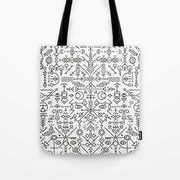 Glyphs - 01 (B&W Edition) Tote Bag