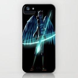 Luc Ready for Battle (Black/Dark Background) iPhone Case