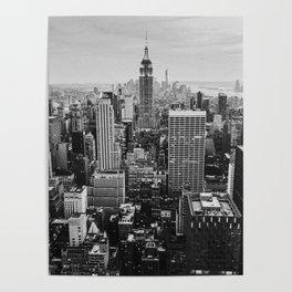 Black & White NYC Skyline Poster