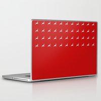 reindeer Laptop & iPad Skins featuring Reindeer by elyinspira