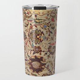 Safavid Silk Metal-Thread Persian Rug Print Travel Mug