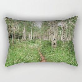 Wander Through The Aspen Forest Rectangular Pillow