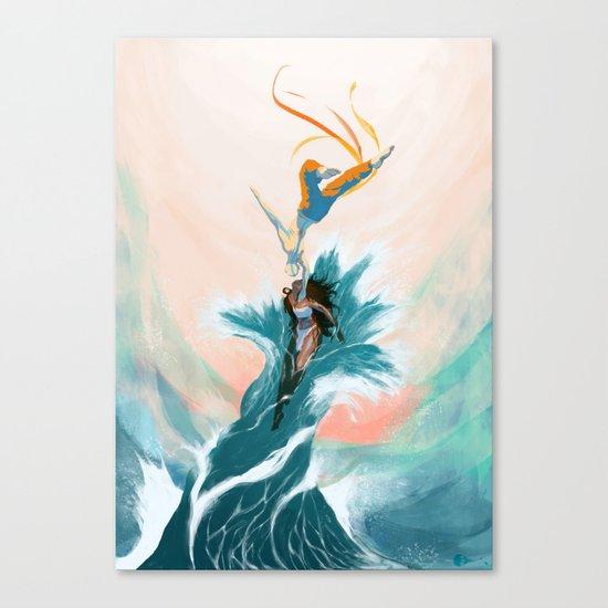 Katara and Aang Canvas Print
