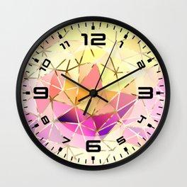 Rainbow Geometric pattern #5 Wall Clock