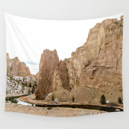 Smith Rock Oregon Desert Sunset - Nature Photography Wall Tapestry