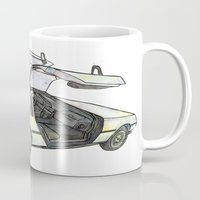 delorean Mugs featuring DMC - Delorean by dareba