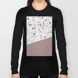 Terrazzo Texture Antique Pink #6 Long Sleeve T-shirt