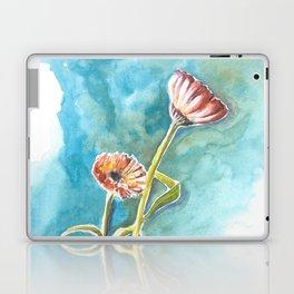 Blooms on Turquoise Laptop & iPad Skin