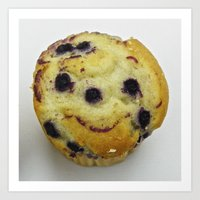 Muffin Smiley Art Print