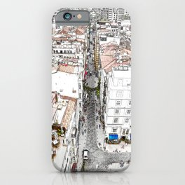City life in Istanbul historic streets iPhone Case
