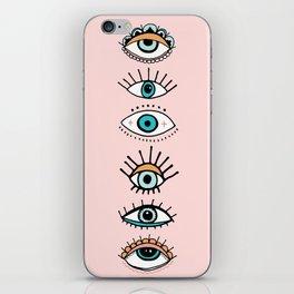 eye illustration print iPhone Skin