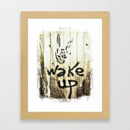 Frank the bunny Framed Art Print