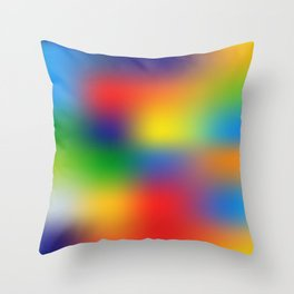 Abstract Colorful illustration Throw Pillow