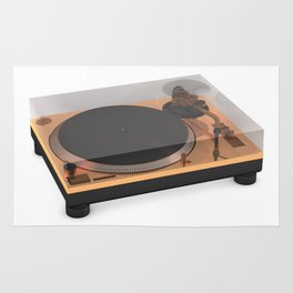 Golden Turntable Rug