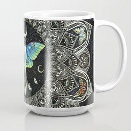 Lunar Moth Mandala with Background Coffee Mug