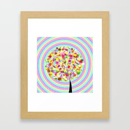 The little tree and the colorful spiral Framed Art Print