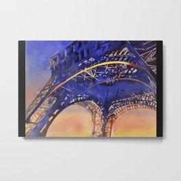 Eiffel Tower in Paris, France at sunset. Metal Print