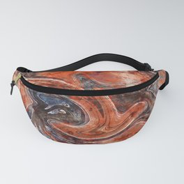 Orange marble watercolor Fanny Pack