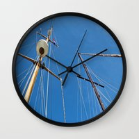 sail Wall Clocks featuring Sail by M. Gold Photography