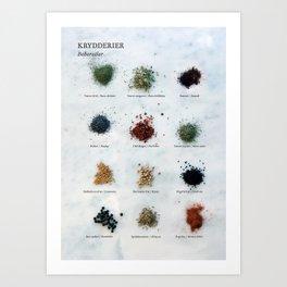 Krydderier #01 Art Print