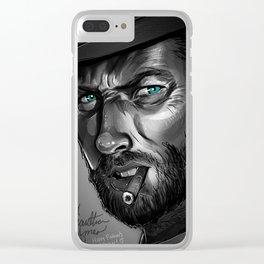 Clint Eastwood Fan Art Clear iPhone Case