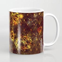 Diamond Rose Pattern - Maroon and Gold Coffee Mug