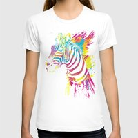 zebra T-shirts featuring Zebra Splatters by Olechka